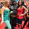 Poison Ivy, Batman, and Wonder Woman