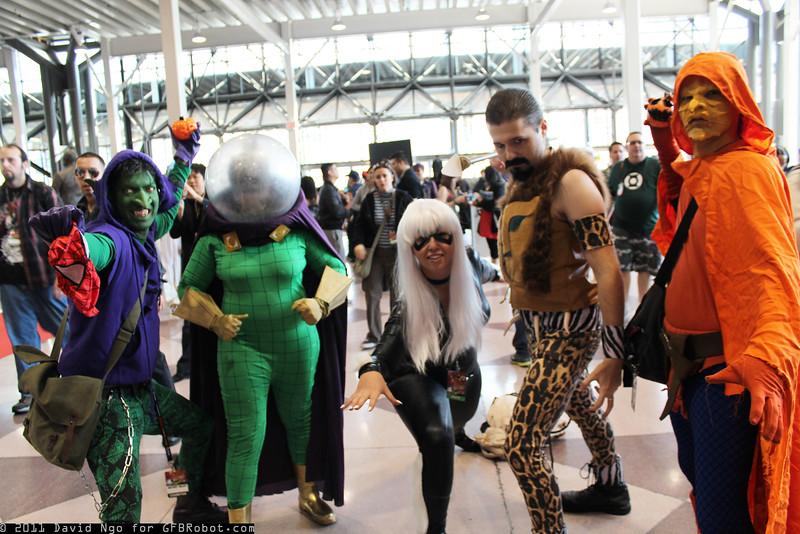 Green Goblin, Mysterio, Black Cat, Kraven the Hunter, and Hobgoblin