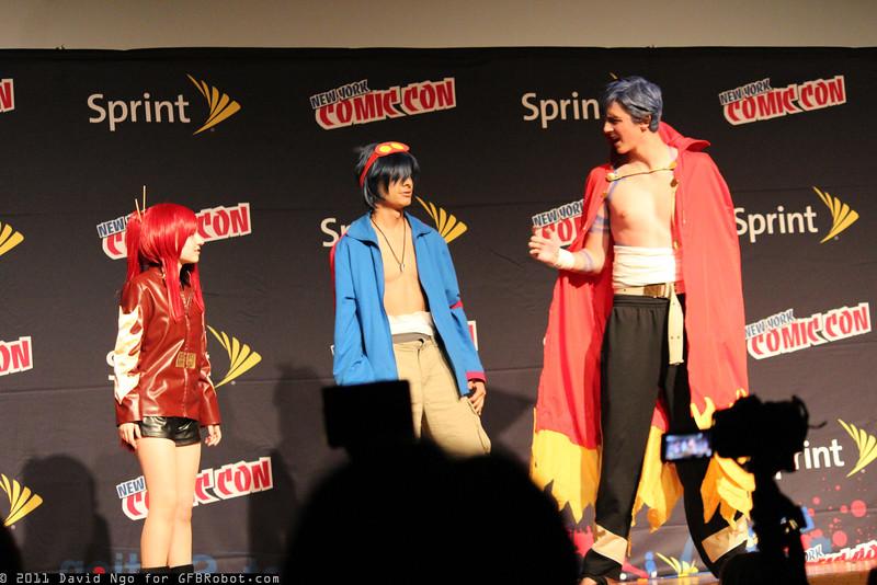 Yoko Litner, Simon, and Kamina
