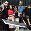 Cloud Strife, Aeris Gainsborough, Yuffie Kisaragi, Cid Highwind, and Zack Fair