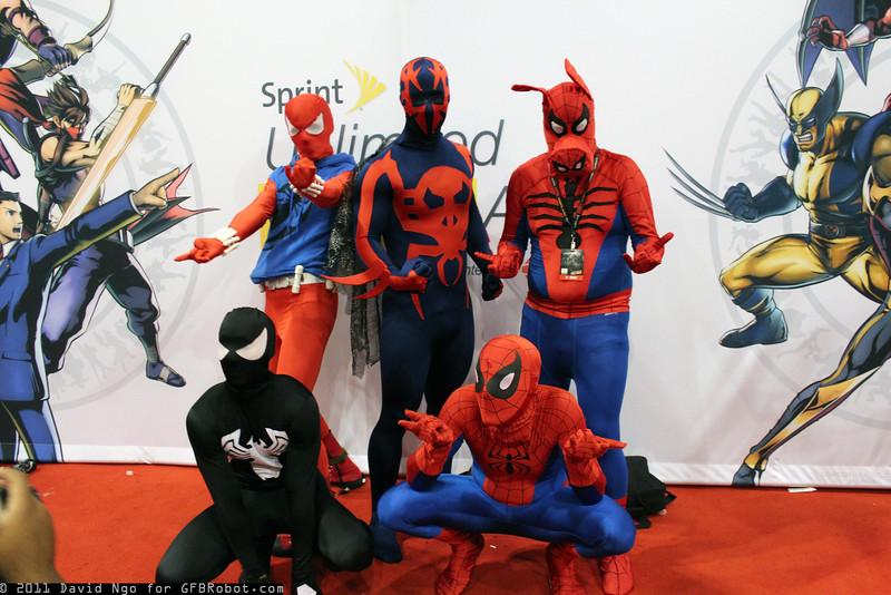 Scarlet Spider, Spider-Man 2099, Spider-Ham, and Spider-Men