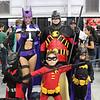 Huntress, Red Robin, Batman Beyond, Robin, and Batgirl