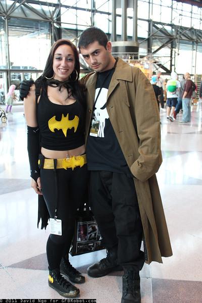 Batgirl and Punisher