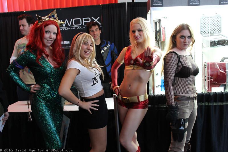 Mera, Gwen Stacy, Ironette, and Natalia Kassle