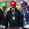 Luigi, Mario, and Waluigi