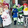 Woody, Bo Peep, Little Green Man, Buzz Lightyear, Jessie, and Sheep
