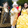 Cogsworth, Lumiere, and Belle