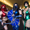 Skarlet, Kitana, and Jade