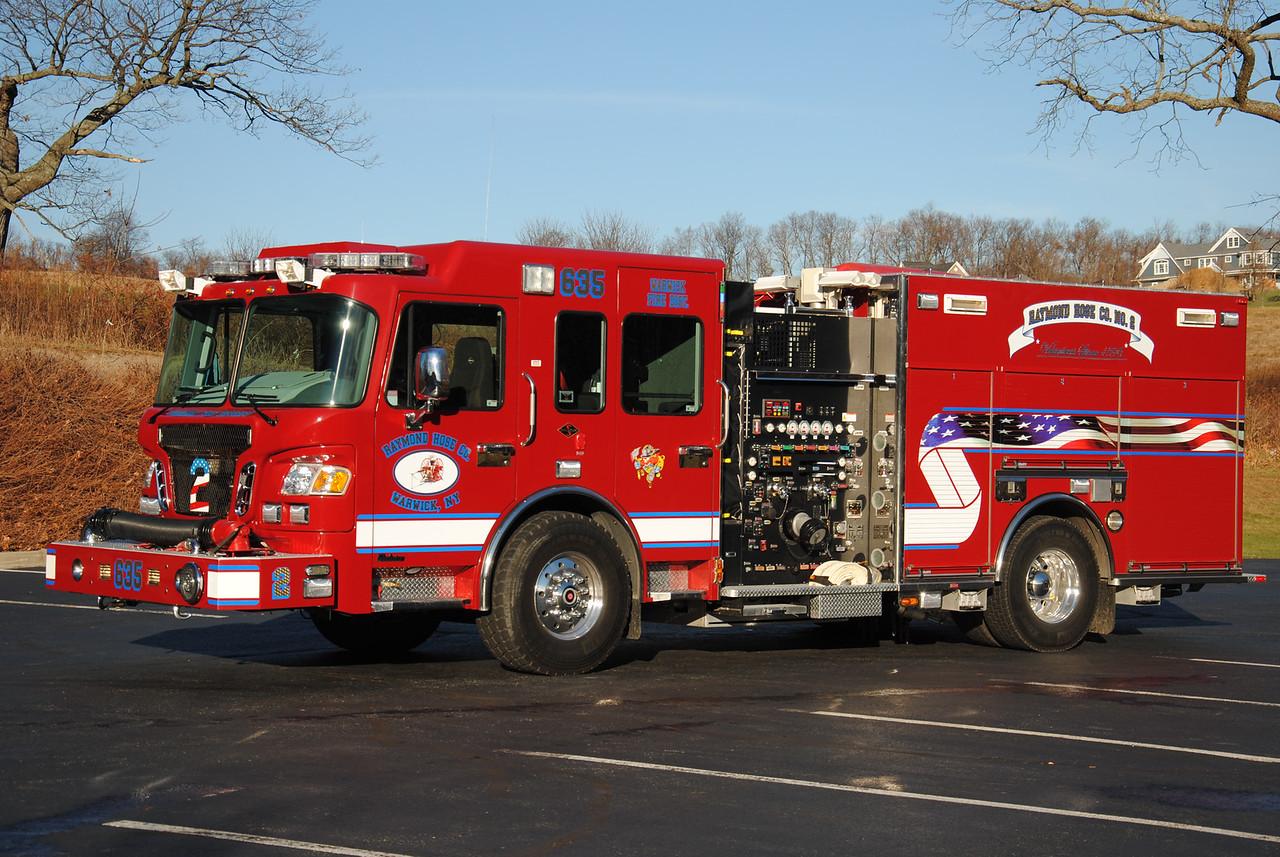 Raymond Hose Company #2, Warwick Engine 635