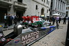 New York City Wall Street, Race cars and drivers in front of the New York Stock Exchange