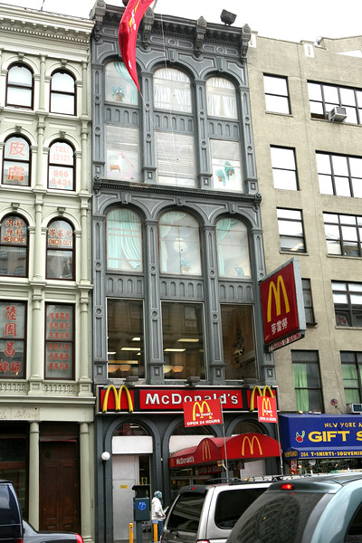 McDonald's on Canal.  The top windows are paintings only.