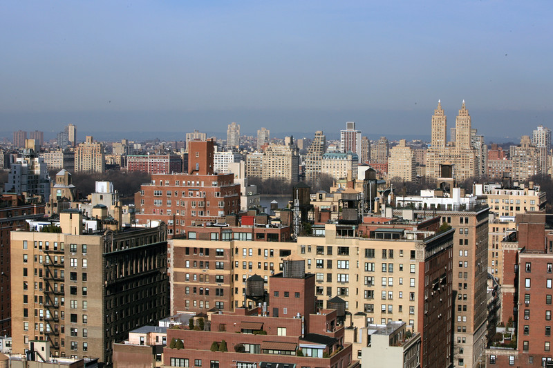 View from apartment roof, you can see the Jackie O reservoir in the center (Central Park)