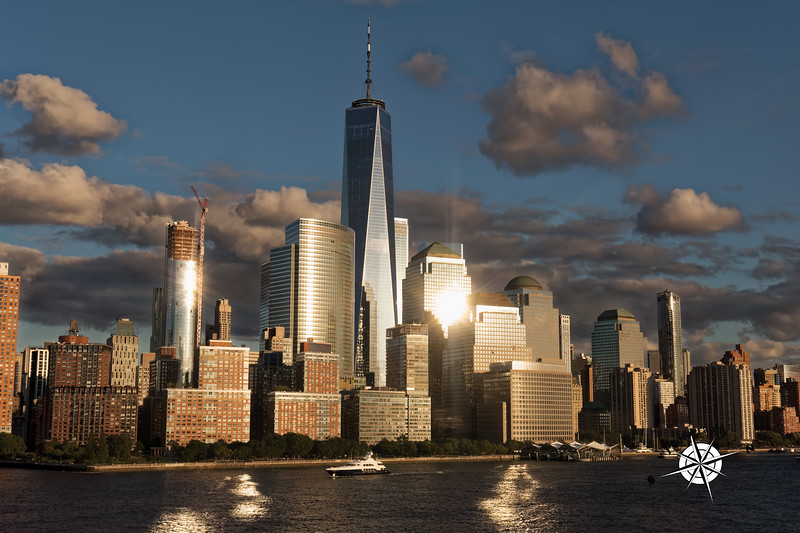 World Trade Center at sunset