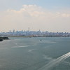 Motorboat Approaches the Manhattan Skyline