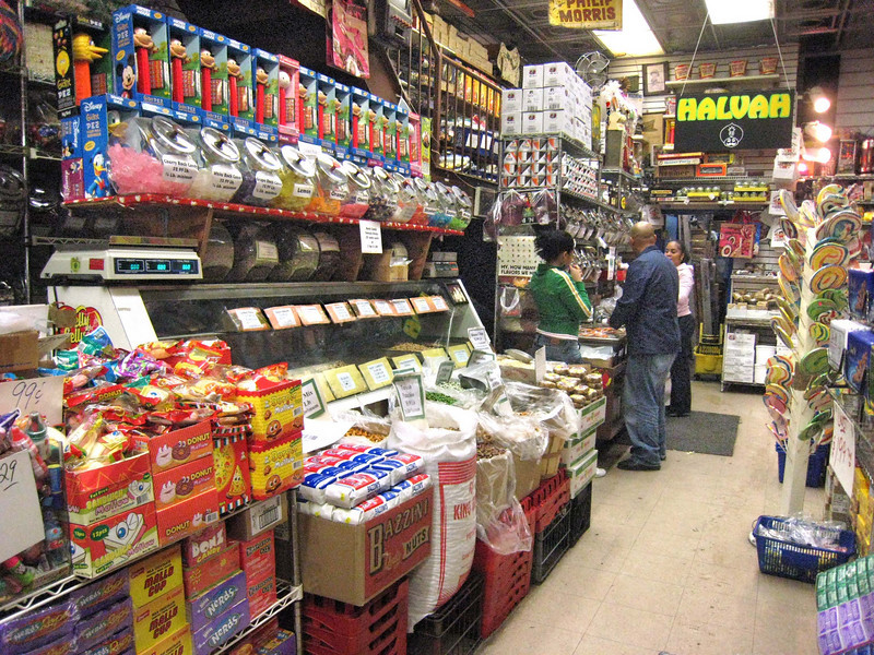 They sell halvah by the candy bar and by the pound, sliced off a great savory block of the stuff.