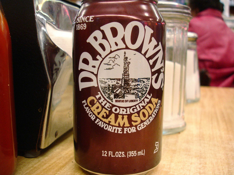 "Dr. Brown's Cream Soda is the definition of the Lower East side.  ""Have a sliver sponge cake and a glass cream soda!"""