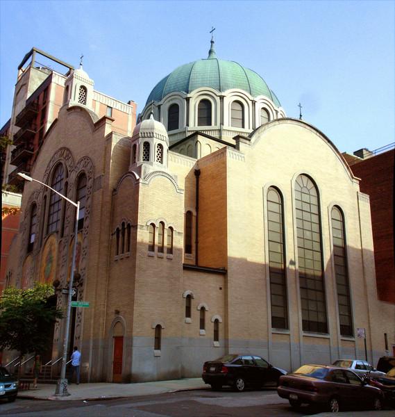 St. George's Ukrainian Church at 6th Street and Taras Shevchenko Place.  Shevchenko was an eminent Ukrainian patriot and poet.