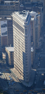 The Flatiron Building, seen from the Empire State Building