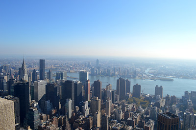 The view out towards Queens from the Empire State Building