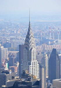 The Chrysler Building, seen from the Empire State Building