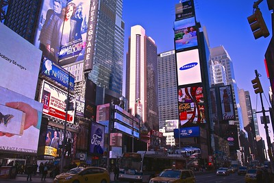 Lights and advertising of Times Square in New York City