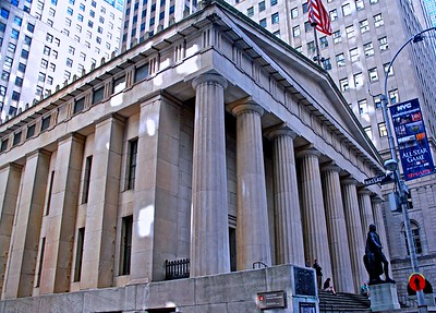 Federal Hall in Downtown New York City