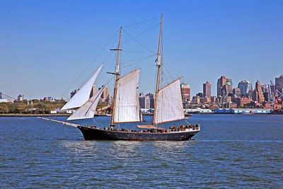 Clipper City in New York Harbor