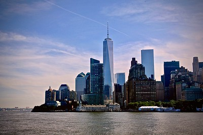 View of Downtown New York from the Staten Island Ferry