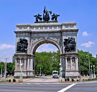 Soldiers' and Sailors' Memorial Arch, Brooklyn's version of the Arc de Triomphe