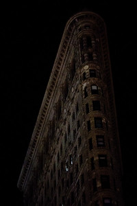 Flat Iron at Night in Manhattan