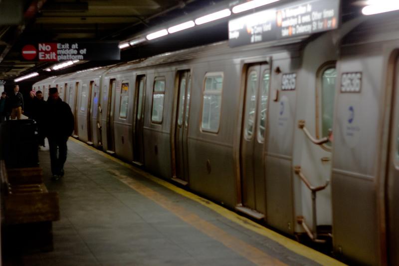 Subway at Night in Manhattan