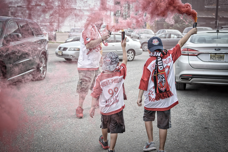 No March today but it did not stop the kids.  @newyorkredbulls @onceametro @southwardsupporters @Ultras_GSU @gardenstateultras