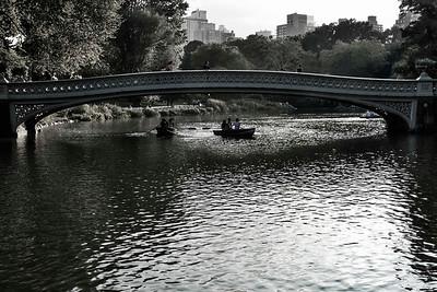Rowers under Bow Bridge