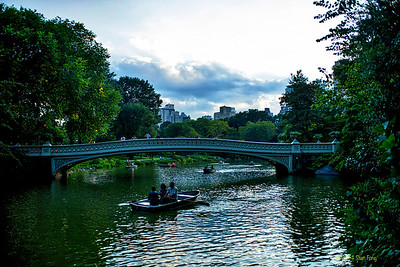 Rowers and Bow Bridge