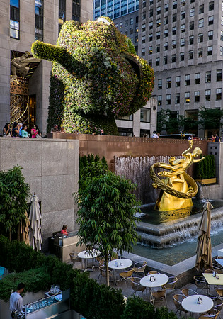 Split Rocker by Jeff Koons Rockefeller Center