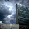 United Nations Secretariat Building against Dramatic Sky - Famous Buildings and Landmarks of New York City