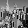 Midtown Matinee - Skyline of New York - Black and White