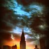 Stormy New York City Sunset