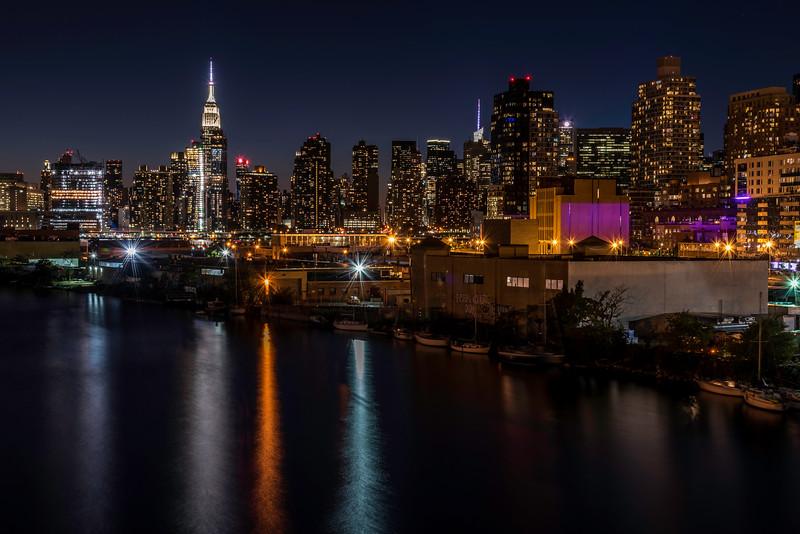 View of Manhattan Skyline from Pulaski Bridge
