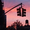 Water Tower and Traffic Light