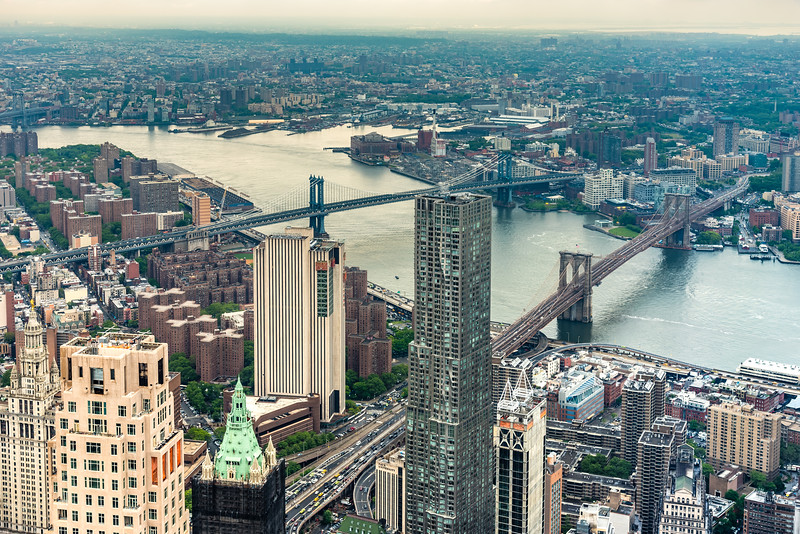 View of East River from One World Observatory