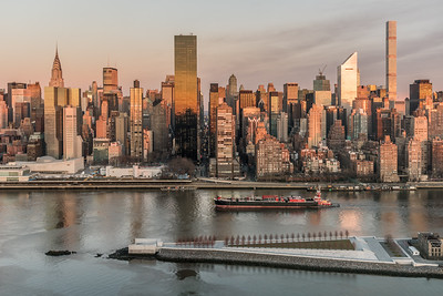 Manhattan skyline at sunrise