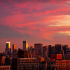 Sunset in New York City as Seen from the West Side of Manhattan