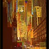 East 45th Street - New York City Street Scene - stylized