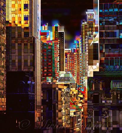 Fifth Avenue at Sunset - New York City Street Scene