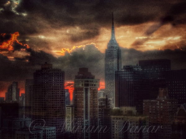 Grandeur of the Past - Empire State at Sunset