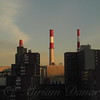 Smokestacks - New York City Skyline - horizontal
