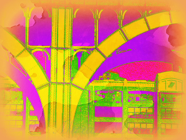 Arch Five - Neon Green and Mellow Yellow - Architecture of New York City