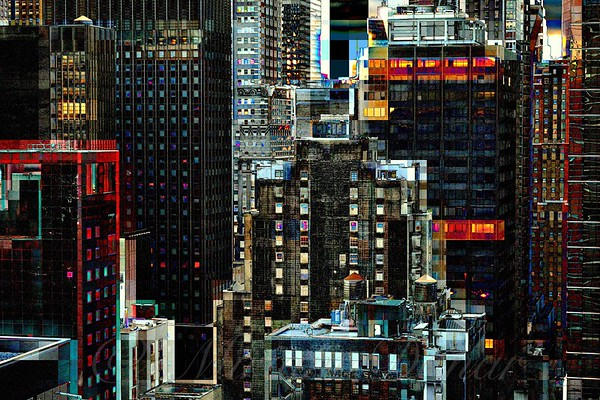 New York at Night - Skyscrapers and Office Windows
