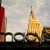 Macy's with Empire State Building - Famous Buildings and Landmarks of New York City